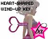 (BA) Heart Wind-Up Key