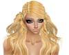 blonde kinky hat hair