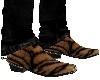 Tiger Fur Cowboy Boots