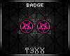 !TX - Pink Penta Badges