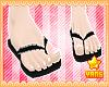 *Y* Black Flip Flops