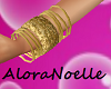 gold bangles *right*