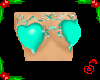 Teal Heart Leaf Top