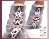 (LL)XKSPinkGray Socks