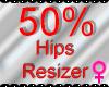 *M* Hips Resizer 50%