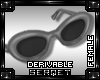 D| Oval Glasses