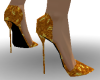 *KR-Gold Spike Heels