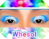 rainbow blue eyeshadow