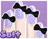 Bow Nails - Purple