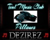 Teal Music Club Pillows
