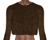 Val Cocoa Knit Crop