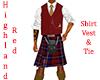 Highland Red Kilt Cut