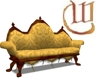 Victorian Couch - gold