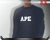 VTG APE CRWNECK BL