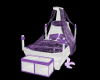 childs purple canopy bed