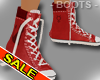 Red Basketball Boots