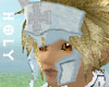 blue cross headgear