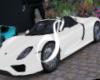 White Porsche 918S