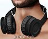 ♛ Headphones Black.