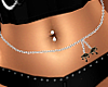 Silver/Black Belly Chain