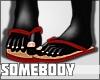 J. Red Flip Flops !