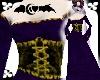 Purpl Velvet gold corset