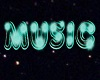 Teal Neon Music Sign