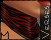 -V- [M] Choker Zebra Red