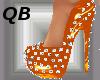 Q~Orange Spiked Platform