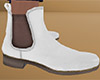 White Chelsea Boots 2 M