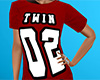 Twin 02 Shirt Red (F)