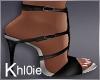 K black silver heels
