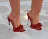 red sparklie heels
