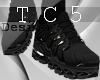 Black branded sneakers