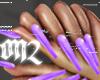 EXTRA Long Purple Nails
