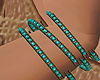 turquoise bracelets x2