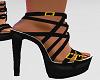 *MM* black strap heels