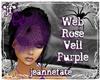 *jf* Web Rose Veil Prpl