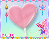 Kids Pink Heart Lollipop