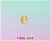 Fo. E Letter Orange