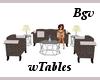 Grainy Set & Tables 7p
