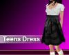 (M) Teens Dress Black