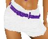 LL-White Shorts/Prp sprk