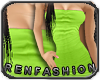 $R Lime Tube Dress