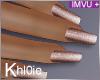 K rose gold nails +
