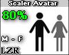 Scaler Avatar M - F 80%