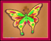 GreYellow Butterfly Tat
