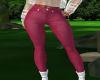 Silk Red Pants RLS