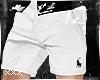 [X] White Ralph Shorts.
