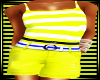 ALA-YELLOW SHORTSET